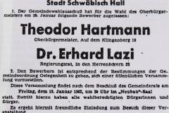 1962-Bekanntmachung